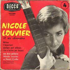 "NICOLE LOUVIER / HENRI CROLLA ""HELENE"" 50'S EP DECCA 455.660"