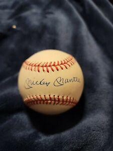 mickey mantle autographed baseball