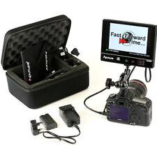Aputure VS-2 finehd full hd 1920x1200 peaking hdmi monitor-coque, batterie et bras