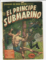 SUBMARINER 39 TIMELY MEXICAN VARIANT PROTEO Nº 1 MEXICO 1951 IN SPANISH