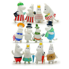 12pcs Moomin Valley Figures Cute Anime Figurine Toy Cake Topper Gift For Kids