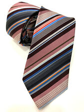 Paul Smith MULTI RIGHE CRAVATTA MADE IN ITALY RARISSIMA multi righe 8cm LAMA