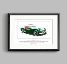 Triumph TR3A Limited Edition Fine Art Print A3 size