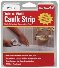Red Devil 0150 Medium White Tub and Wall Caulk Strip 7/8-Inch by 11-Foot , New,