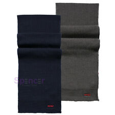 HUGO UNISEX KNITTED VIRGIN WOOL LOGO SCARF 'ZIANNO 3' Was £89.00