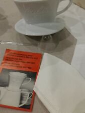 Melitta filtre porcelaine  neuf  - vintage -  taille 100