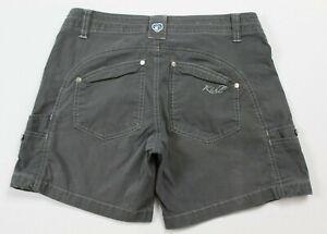 KUHL Womens Free Range Shorts Size 4 Gray GUC #17010