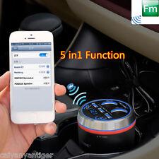 Car Bluetooth Handsfree Kit FM Transmitter Radio MP3 Player W/3-Port USB Charger