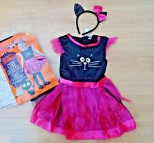 GIRLS NEW AGE 2-3 YEARS WITCH PRINCESS CAT HALLOWEEN FANCY DRESS COSTUME