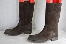 BUTTERO  MEN RUGGED LEATHER BIKER RIDING BOOTS EU 40.5 US 8 .MADE IN ITALY