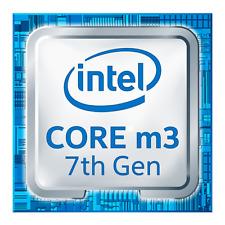 Intel Core m3 7 th Gen Azul 18mm x18mm Metálica Pegatinas 7 Vinilo 10 8 Windows