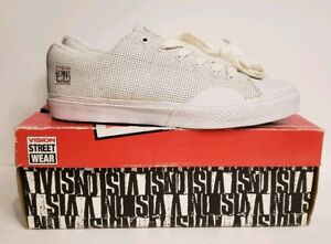 Vision Street Wear Low Top White Perf Shoes Size 7 Men's