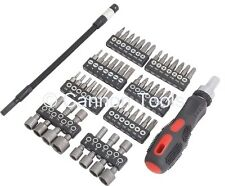 Neilsen 58pc Ratchet Screwdriver Driver & Bit Set Philips Hex Slotted  1135