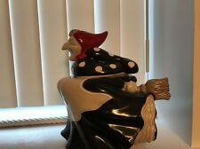 Fits And Floyd Red Scarf Poka Dot Witch Cookie Jar