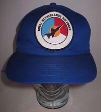 Vintage Royal Netherlands Air Force - Blue Hat Cap Snapback - Nunen SGT Military