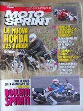 MOTOSPRINT n°19 1992 Test Suzuki GSX-R 750 - Honda 125 Raiden   [P75]