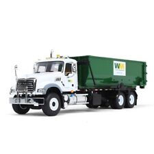 """New First Gear Die Cast 1:34 """"WM Mack Granite With Tub-Style Roll-Off Container"""""""