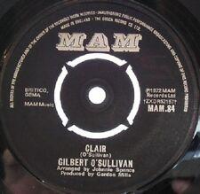 "Gilbert O'Sullivan – Clair  7"" vinyl  disc."