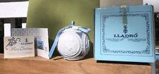 1988 LLadro Christmas Bell Ceramic Porcelain Ornament w Box Decoration Unused