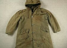 WWII WW2 US NAVY N-2 N-1 N140 HOODED ALPACA LINED DECK PARKA COAT 40S USN 44/46