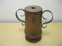Antiguo Cobre Recipiente con Tapa - 19 CM