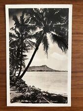 Vintage RPPC - DIAMOND HEAD - HONOLULU, HAWAII