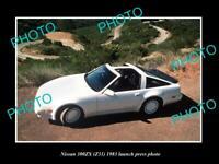 OLD POSTCARD SIZE PHOTO OF 1983 NISSAN 300ZX Z31 LAUNCH PRESS PHOTO 2