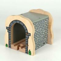 UK Bigjigs Rail Wooden Grey Cave Tunnel Kids Toy Railway Train Track Accessories