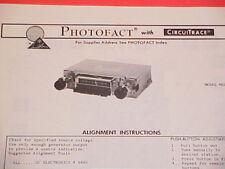 1974 TRUETONE AM RADIO SERVICE MANUAL MED5554A-57 (DC5554) CHEVROLET FORD DODGE