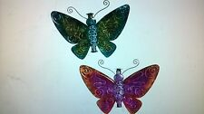 """Eclectic Elements 11"""" Metal Butterfly,2. (Lot of 6 pieces for Local pick up)"""