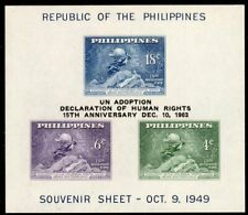 Philippines Scott # 534  VF MNH 1949 UPU Monument Souvenir Sheet