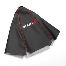 NEW JDM NISMO BLACK/Red Leather Gear Shift Knob Gaiter Glove Cover BOOT COVER