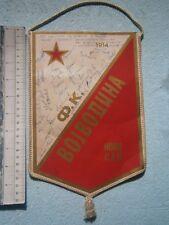 VOJVODINA SERBIA FOOTBALL SOCCER FLAG PENNANT PLAYER written SIGNATURE ORIGINAL