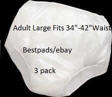 3PK Reliamed Adult Waterproof Soft Vinyl Plastic Pant Diaper Incontinent large