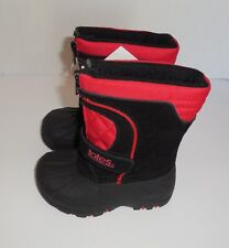 Boys Size 5 Toddler TOTES Tyler II Snow Boots Black Red Waterproof Shell Nwt