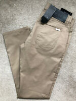 "ARMANI EXCHANGE BEIGE SLIM FIT TROUSERS PANTS CHINOS 8NZJ13 - 30"" R - NEW & TAGS"