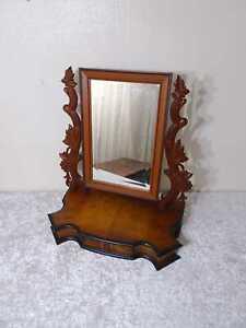 Antike Holz Psyche Schminkspiegel Kippspiegel Frisierspiegel - Vintage