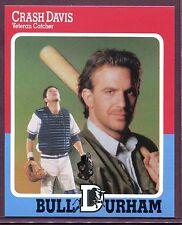 """KEVIN COSTNER ~ Bull Durham Movie """"Crash Davis"""" Baseball Card"""