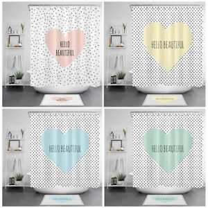 Hello Beautiful Shower Curtain Romantic Motivational Words For Bathroom Decor