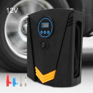 Aluminiumlegierung Auto Luftkompressor elektrische tragbare Auto Fahrradpumpe Schwarz Gorgeri 12V Autoreifen Manometer