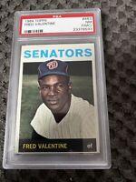 1964 Topps FRED VALENTINE #483 Senators PSA 7 (NearMint-Mint)