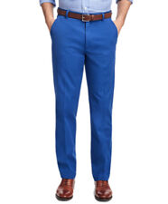 5637-2 Brooks Brothers Mens Blue Clark Fit Brushed Twill Chino Pants 36W x 30L