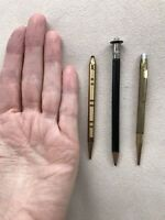Antique Small Mechanical & Lead Pencils AXT 10 KT Gold RGP, & Unbranded Pencils