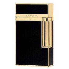 S.T. Dupont Lighter Ligne 2 Black Lacquer & Gold - 016884 Gift Boxed