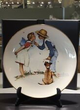 Norman Rockwell 1972 Limited In Edition Gorham Plate Spring Beguiling Buttercup