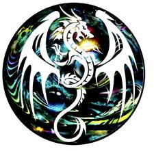 Artistic White Dragon Rug Carpet 100 x 100CM mat