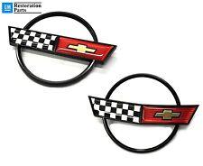 C4 Corvette Hood and Fuel Gas Door Emblems 84 85 86 87 88 89 90 1984 1985 1986