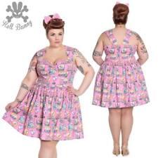 Hell Bunny Maxine Rockabilly Pinup Swing Retro Vintage Mini Dress XL-4XL