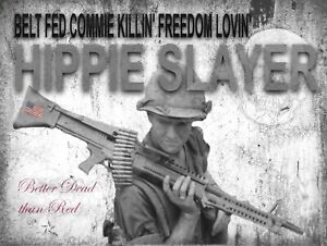 """Damned Commies .. Better Dead than Red Metal Sign 9"""" x 12"""" or 12"""" x 16"""""""