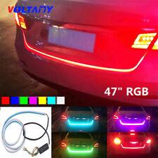 "D12V 47""RGB Car Rear Trunk Strip Light Tailgate Brake Drive Turn Signal Flow LED"